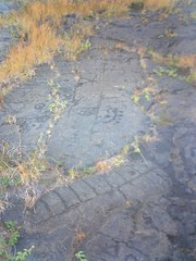 Old skool Hawaiian volcanic rock markings