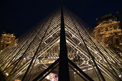 LouvrePyramid04f (scarletgreen) Tags: light glass museum architecture night pyramid louvre contemporary musedulouvre ieohmingpei louvrepyramid  grandlouvreproject