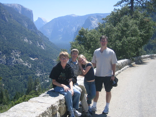 TigerHawk family approaching Yosemite valley