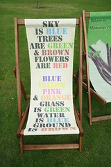 Deckchair poetry in Regent's Park