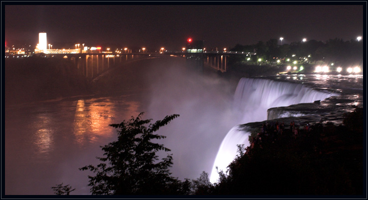 Night View of Niagara Falls
