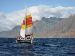 We took a catamaran to the amazing Na'Pali Coast. (07/10/07)