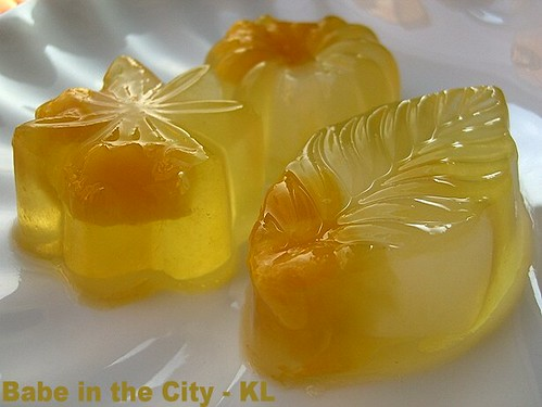 Mango and Nata De Coco Konnyaku Jelly