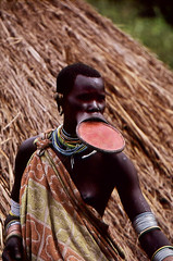 The Surma (BoazImages) Tags: africa people woman black face river naked breast village skin culture plate tribal hut tradition ethiopia surma omo documentry scarring kibish anawesomeshot aplusphoto boazimages omvalley