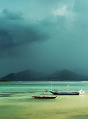 Boats in Chaweng - by aldask