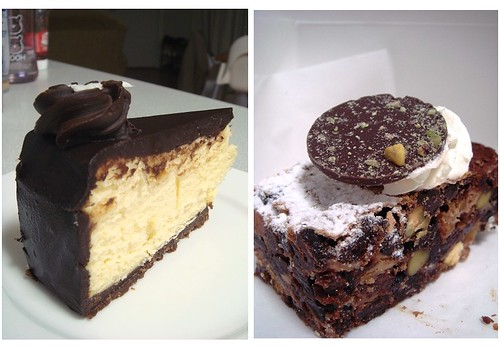White chocolate cheesecake & Chocolate pistachio date slice