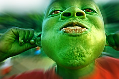 Shrek, the kid... (carf) Tags: girls brazil art girl brasil kids children fun hope kid community education support funny child play risk shrek esperana social altruism eldorado change shanty educational hummingbirds powerful favela development prevention radial atrisk changemakers mundouno expd everyoneachangemaker favekids