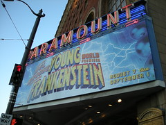 Then we went to see Young Frankenstein, Mel Brooks new musical at the Paramount Theater