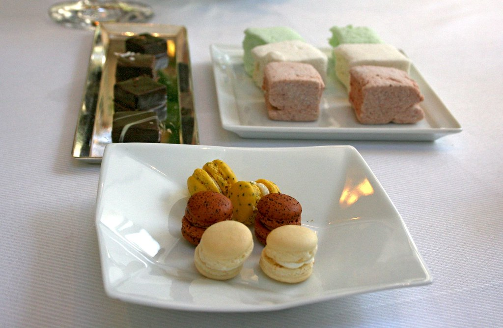 Trio plates of petit fours