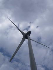 Gerador eólico visto de baixo