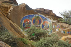 Rock Thangkas (Andreas' Photos) Tags: tibet shigatse tashilunpo