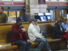 But we saw him at South Station in a Sox cap (lucidlemur) Tags: boston saddam hussein southstation