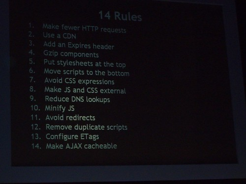 The 14 Rules for high performance websites
