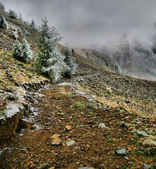 Along The Track (LilFr38) Tags: mountain snow france nature montagne landscape track neige paysage hdr piste ancelle supershot 7xp hdrenfrancais tz3 lilfr38 mediachance coldelacoupa