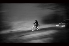 Cycling Through the Darkness (Hans van Reenen) Tags: winter bw classic car dark cycling cyclist darkness fav50 sneeuw nederland thenetherlands cine fav20 frantic cinematic fav30 panning underway limburg donker fietser schemer fav10 molenhoek fav100 fav40 fav60 fav110 fav90 fav80 fav70 fav120 s5pro fav140 fav130 20080905