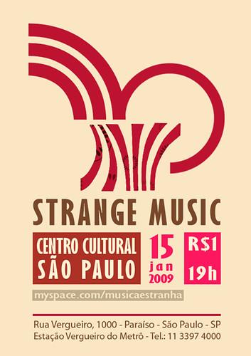 MÚSICA ESTRANHA NO CCSP por Strange Music.