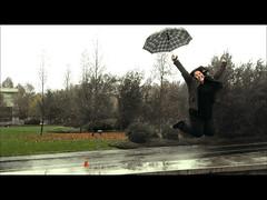 075 - Nicky Rebelde (Adn!) Tags: woman girl rain umbrella project lluvia jump mujer chica cloudy days salto nublado 365 dias paraguas proyecto