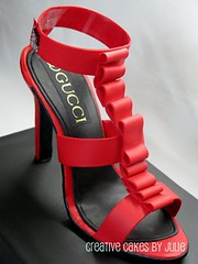 Close-up of sugar shoe (Creative Cakes by Julie) Tags: cake gucci 30thbirthday stiletto shoebox