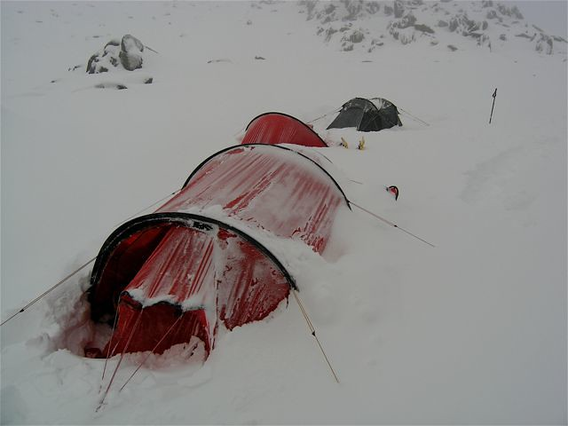My Hilleberg Kaitum in action after a 40cm snowfalll & Snow Tent