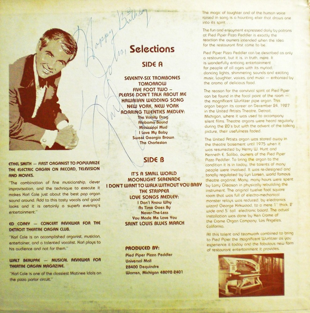 PIED PIPER PIZZA PEDDLER back cover