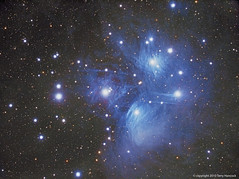 M45 Pleiades (The Seven Sisters) (Terry Hancock www.downunderobservatory.com) Tags: camera sky mountain night digital wow stars photography eos pier backyard mark shed images astro observatory telescope galaxy ii nebula astrophotography m45 terry astronomy imaging canon5d hancock dslr ccd universe instruments amateur cosmos deepspace pleiades mkii tmb osc astronomer teleskop astronomie byo astrofotografie mi250 astrophotographer Astrometrydotnet:status=solved tmb130ss Astrometrydotnet:version=14400 Astrometrydotnet:id=alpha20101039581355 competition:astrophoto=2011
