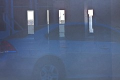 Garage & Reflection.12 (mcreedonmcvean) Tags: abstract reflection downtown parkinggarage cement wichitafalls