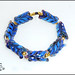 Herringbone - Lampwork Glass Bead Set by Clare Scott
