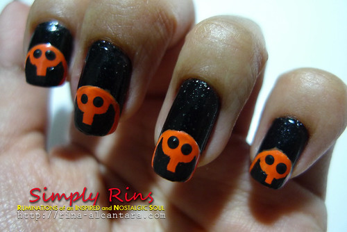 Nail Art Halloween Peeping Pumpkins 05