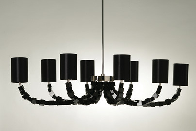 Porta Romana Black Block Chandelier