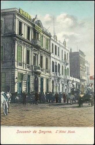Karpostallarda yangından önce İzmir, Huck Hotel