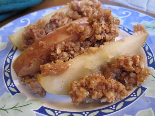 Baked Apple Crumble Close-up