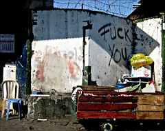 quezon city street (_gem_) Tags: street wood city urban wall delete10 corner delete9 delete5 graffiti delete2 wooden calendar chairs fuck delete6 delete7 philippines save3 driveby delete8 delete3 delete delete4 save save2 fuckyou save4 manila barbedwire save5 cart streetcorner curse quezoncity cuss metromanila monobloc cusswords