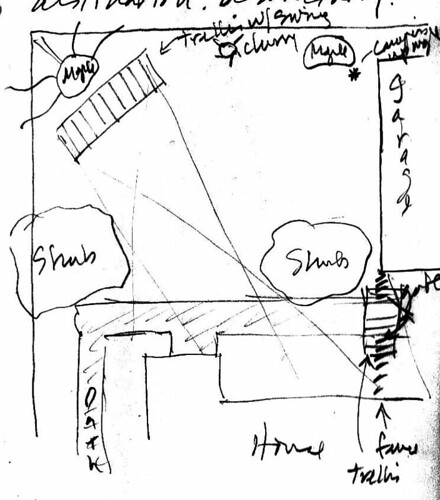 Backyard Garden Design Sketch