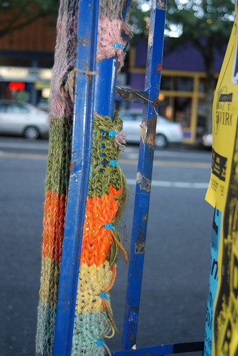 Knitted Graffiti in Fremont