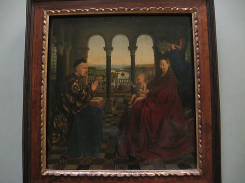 La virgen del Canciller Rolín de Van Eyck