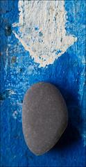 zen pebble on blue #2 (Kashyapi Ando) Tags: blue found pebble zen flotsam justaddbluecom