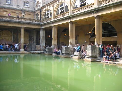 Baños Romanos De Bath:Los baños romanos de Bath en Inglaterra