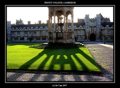 Cambridge colleges: Trinity (Sir Cam) Tags: uk cambridge england green heritage university shadows britain trinitycollege historic soe greatcourt blueribbonwinner supershot outstandingshots abigfave shieldofexcellence goldenphotographer amazingamateur theperfectphotographer