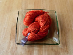 Bushfire red silk