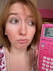 P2214911 (FroggedDesigns) Tags: pink selfportrait calculator maths nocomprendo ti84plus ti84plussilveredition