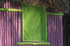 Green Window (Rdoke) Tags: travel vacation beach mexico cincodemayo xpuha photoshopelements yucatnpeninsula riveramaya 100pictures 48window