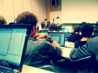 A Sea of Laptops During a Lecture