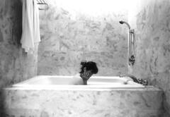 bathtub (garnetnuage.) Tags: monochrome stone female shower bath minimal wife ennui bathtub marble