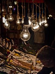 Bulbs of Uskudar (Rafe Abrook Photography) Tags: fish shop turkey market olympus istanbul seafood bulbs e3 fishmarket uskudar 1454