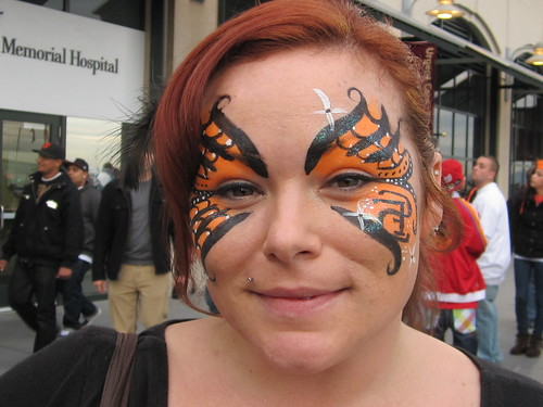 SF Giants Fan: Face Paint