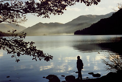 Landscape - Timeless Lake District (Mukumbura) Tags: uk family blue autumn trees winter light shadow vacation england people sunlight mist lake holiday man black colour film nature water beautiful silhouette clouds reflections landscape outdoors person nationalpark still scenery solitude kodak unitedkingdom britain district lakes scenic peaceful tranquility silence shade cumbria 1989 ripples relaxation relaxed enduring picturesque lakeland stillness heavenly tranquil timeless patterdale ullswater glenridding norfolkisland placefell welcomeuk