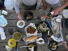 Gourmet Camp Food (jillmotts) Tags: camping friends food lake dinner fishing campingtrip lakemcswain jillmotts jdsl