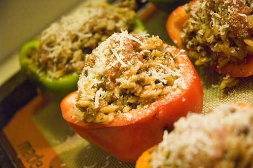 stuffed peppers.  tasty