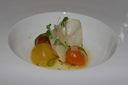 Tomato ceviche, jicama, cilantro