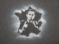 N'ayez pas peur ... (tofz4u) Tags: streetart paris stencil pavement sarkozy pochoir artderue 75014 explored sarkoland
